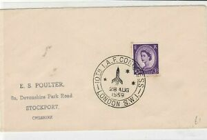 Great Britain 1959 10th I.A.F. Congress London cancel stamps cover ref 21804