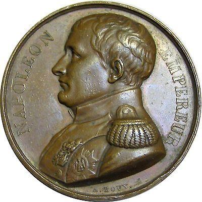 f840 France NAPOLEON Bonaparte Tomb at St. Helena 1821 1840 cuivre medal