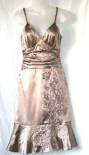 Karen Millen UK8 EU36 US4 mink silk lined dress with floral embroidered detail