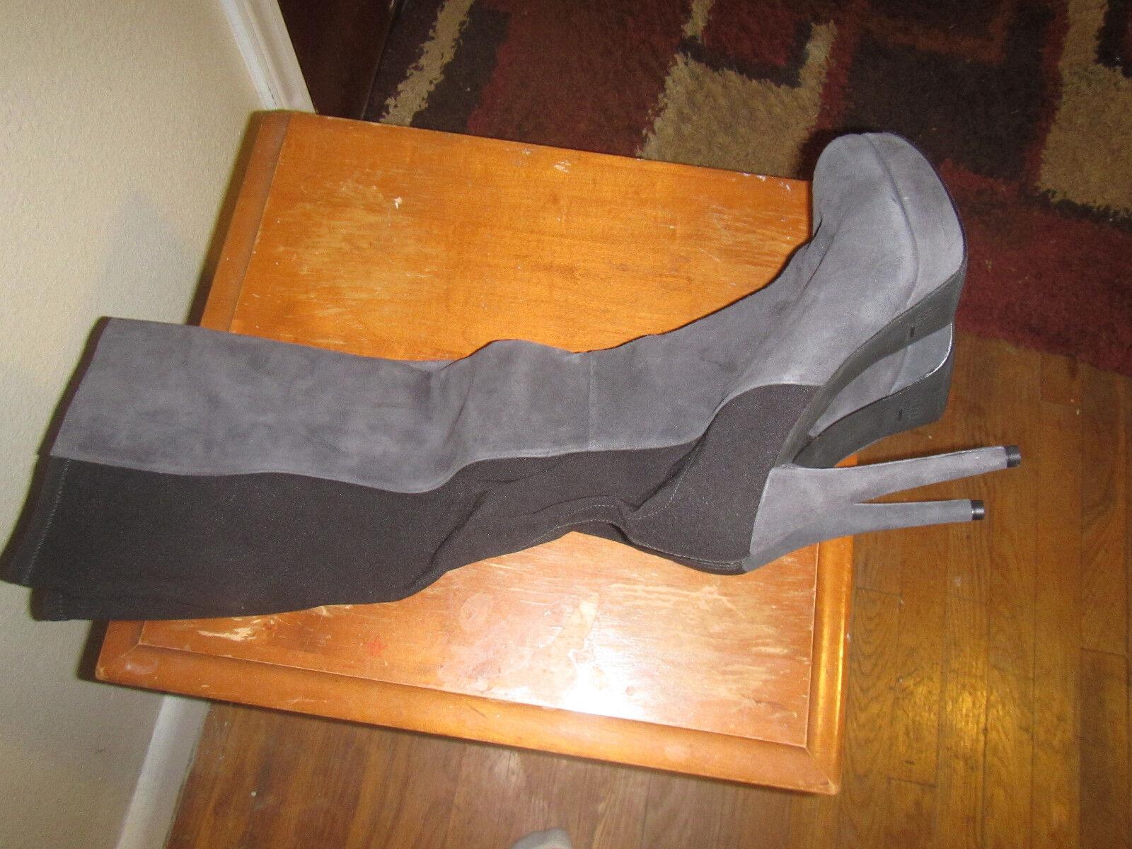 nuovo stile Stuart Weitzman OTK suede nero new stivali stivali stivali 10.5 high heel pull on 50 50 highline  ampia selezione