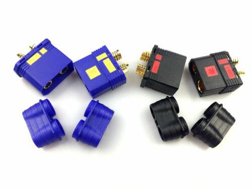 1 Paar Hochstrom Antiblitz Goldstecker QS8S QS8 EC8S EC8 Stecker Buchse 180A 8mm