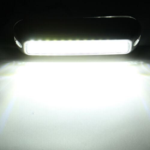 2x 4.7/'/' White 316SS Cover 39 LED Underwater Pontoon Boat Transom Fishing