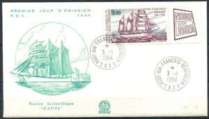 Francais-du-Sud-Antarctique-1984-Mi-195-Premier-jour-100-TAAF-Gauss