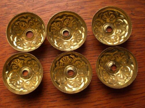 Six New Fancy Brass Tear Drop Pull Backplates or Escutcheons