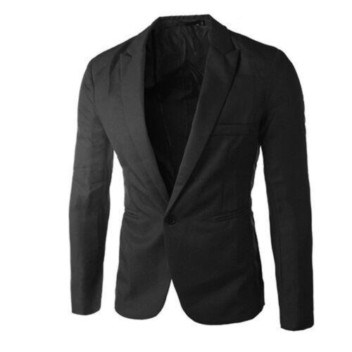 US Men Blazer Formal Business Men Suit Slim Fit Wedding Daily Party Jacket Coat