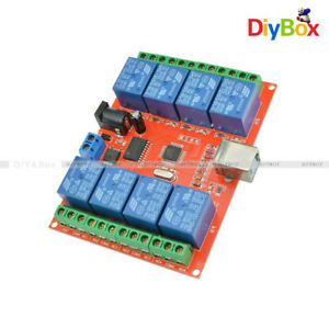 8-way-8-Channel-DC-12V-Relay-control-board-relays-Module-For-AVR-ARM-Development