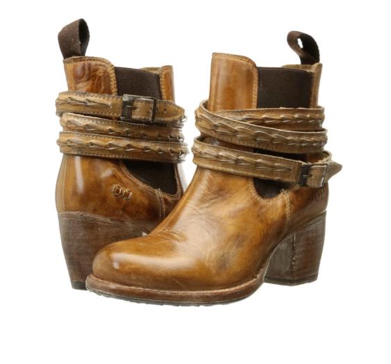 NIB BED STU Lorn Tan Rustic bianca BFS Ankle Boots Booties Donna 6 M