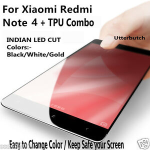 Xiaomi Mi Redmi Note 4 Full Curve Edge 2 Edg Tempered Glass Screen Protector+TPU