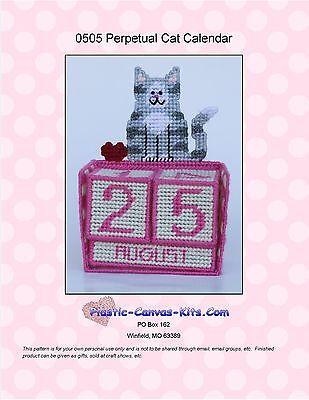 Perpetual Cat Calendar- Plastic Canvas Pattern or Kit