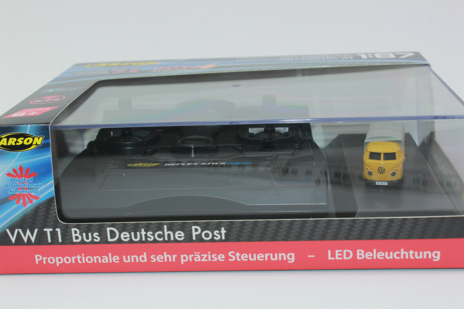 Carson 500504123 VW T1 T1 T1 Bus Deutsche post 0.0847oz 1 87 100% Rtr Nip 1e424d