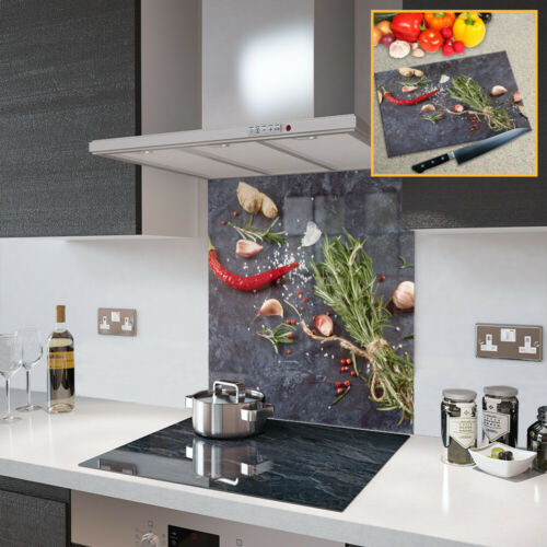 Glass Splashbacks Herbs and Spices Glass and Accessories Made By Premier Range