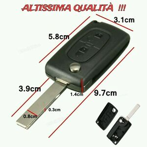Telecomando-2-Tasti-Cover-Guscio-Chiave-Key-Citroen-C1-C2-C3-C4-C5-C6-C8-Picasso
