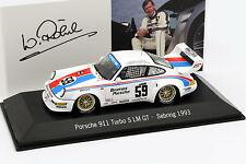 PORSCHE 911 TURBO S LM GT #59 12h Sebring 1993 Röhrl, stucco, Haywood 1:43 SPARK