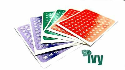 Number Stickers 480 Red Green /& Blue Self Adhesive Labels for home school office