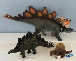 CollectA-Dinosaur-Model-Animal-Toy-Figurine-Stegosaurus-and-Bullyland-Dimetrodon