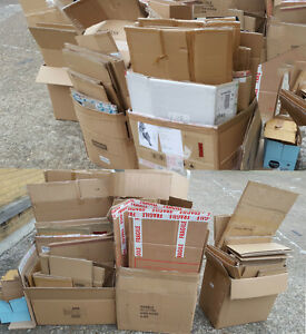 used flat pack cardboard boxes various sizes thickness. Black Bedroom Furniture Sets. Home Design Ideas