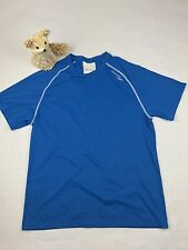 SAUCONY Men's athletic Running Shirt Short Sleeve blue with Reflection SZ/S