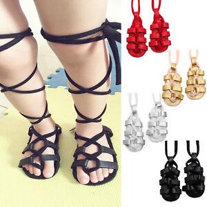 a4bbc9a39993 Baby Girls Gladiator Sandals Fringe Lace-up Shoes Toddler Infants ...