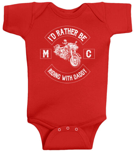 Threadrock Baby I/'d Rather Be Riding with Daddy Infant Bodysuit Motorcycle Club