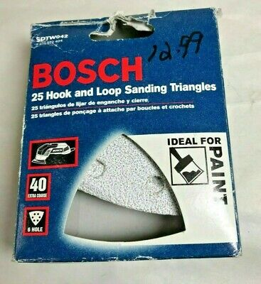 Bosch SDTW240 240 Grit H/&L White Detail Sanding Triangles 5-Pack Italy