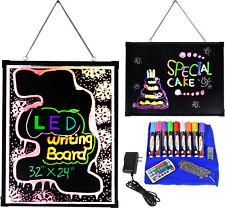 "32"" x 24"" Flashing Illuminated Erasable Neon LED Message Menu Writing Sign Board"