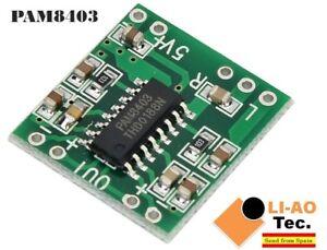 Audio-PAM8403-Module-Class-D-Numerique-Amplificateur-Board-2-5-To-5-V-USB-Power-Supply