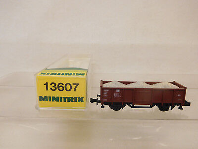 Güterwagen Original Mes-59554 Minitrix 13607 Spur N Güterwagen Db 5085385-4 Sehr Guter Zustand