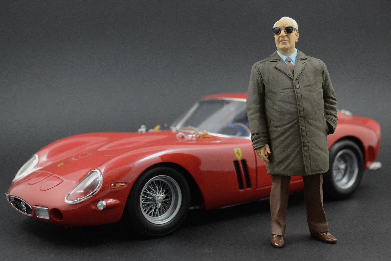 Enzo Ferrari (2) (2) (2) Figur für 1 18 Burago F40 250GTO BBR VERY RARE  | Auf Verkauf  4151a4