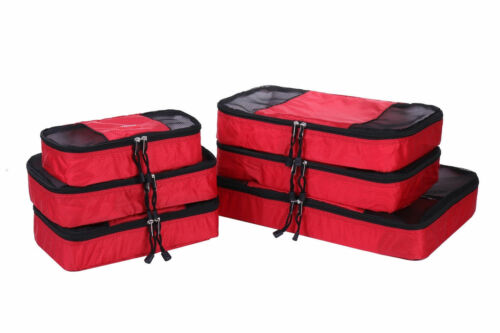 Great Gift Packing Cubes//Travel Luggage Organiser 600006 6 Piece Set