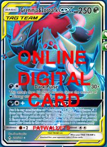 Complete Lucario-GX Zoroark-GX PTCGO Pokemon ONLINE