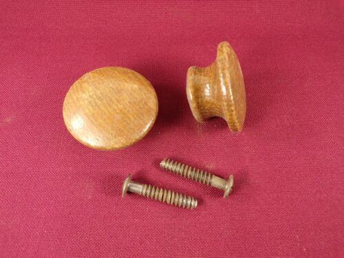 Knob Oak Pair of Vintage Antique Wood Dresser Drawer Pulls