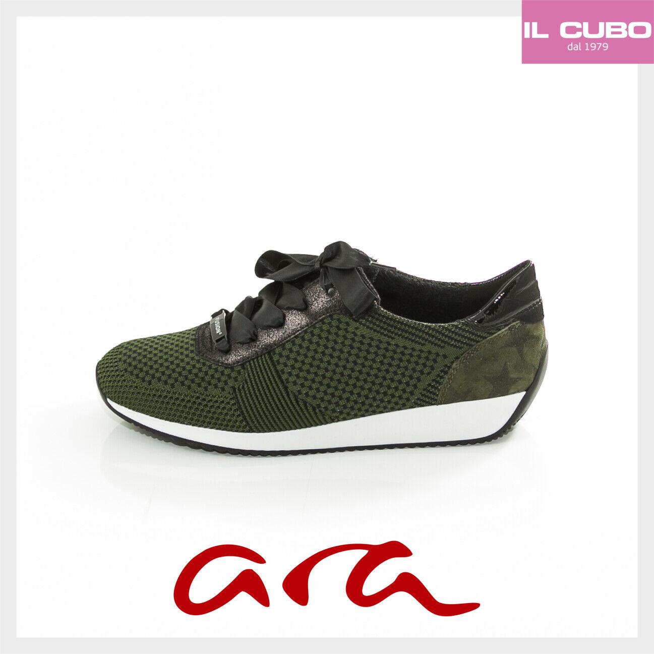 zapatillas ARA FUSION ColorE verde NEW TESSUTO TRASPIRANTE RIPORTO PELLE NEW verde zapatos 8537cc