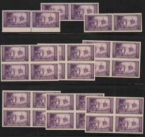 1935-Mothers-of-America-Sc-754-FARLEY-mint-blocks-amp-pairs-no-gum-as-issued