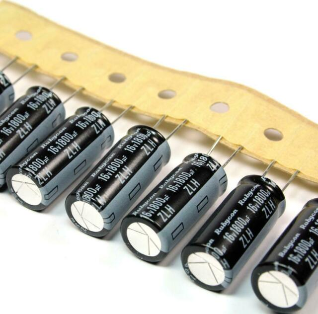 1800uf 6.3v Rubycon MCZ 10mm x 16mm 105C MBD Capacitor