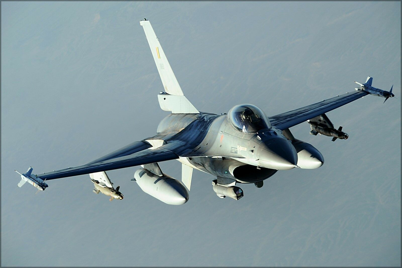 Poster Many Sizes; F-16 Fighting Falcon Over Tucson Arizona