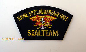 US NAVAL SPECIAL WARFARE UNIT SEAL TEAM HAT PATCH US NAVY VETERAN ... c41f9a3bc91