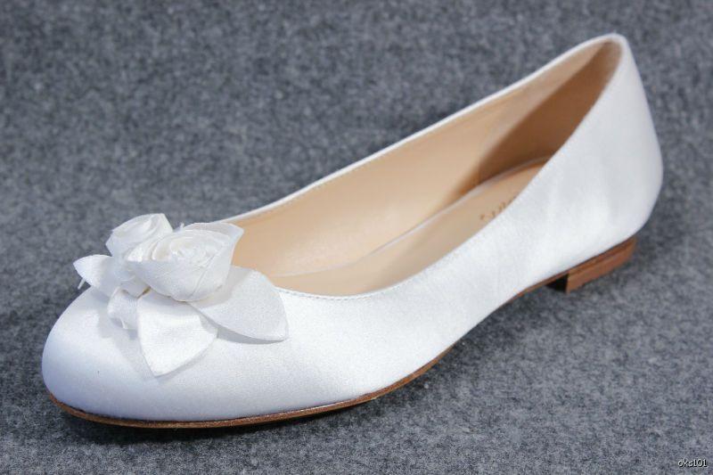 punto vendita New COLE HAAN Air bianca satin FLOWER rosas ballet FLATS FLATS FLATS scarpe - wedding bridal  garantito
