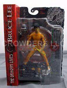 Bruce Lee Dragon vit l'ascension de la bouche fermée Variant Art Asylum Nip 687203755021