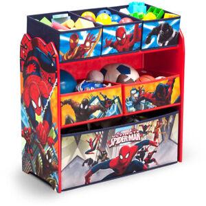 Image Is Loading Spider Man Toy Bin Organizer Storage Drawer For