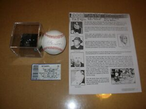 Mike-Schmidt-Autographed-Baseball-with-Case-Ticket-and-Event-Brochure