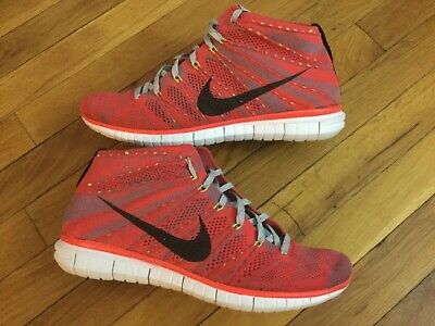 Nike Free Flyknit Chukka BRIGHT CRIMSON 639700 600 Da Uomo Taglia 10   eBay