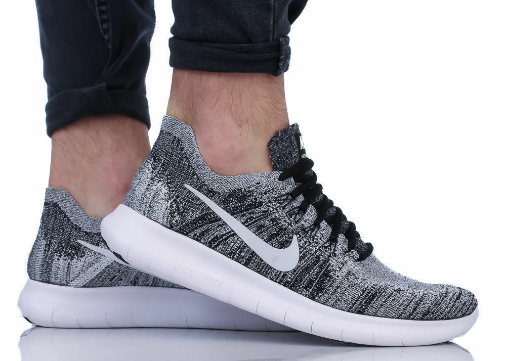 Hommes NIKE FREE RN FLYKNIT 2018 RUNNING TRAINERS SIZE UK/11 EUR/46 gris
