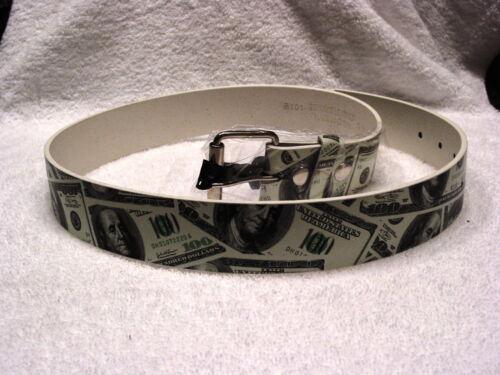 ONE HUNDRED DOLLAR BILL $100 LEATHER BELT