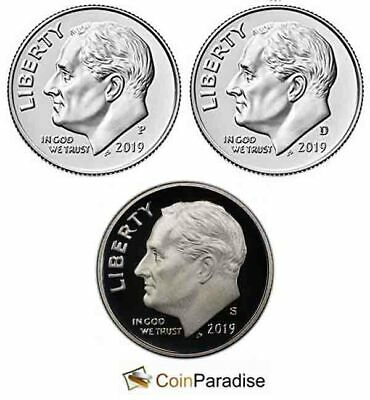 2015 P /& D Roosevelt Dime Gem Bu From Mint Sets IN STOCK