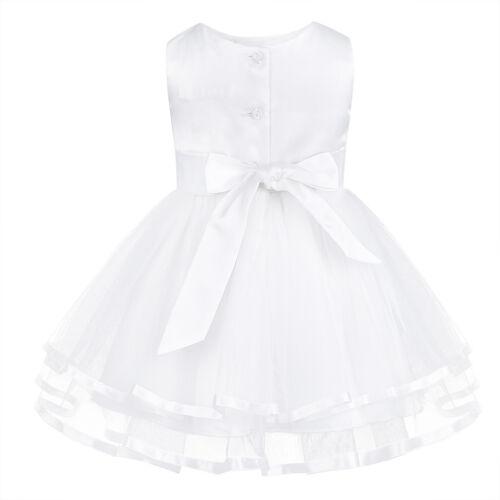 Baby Mädchen Blumenmädchenkleider Hochzeit Brauntjungfern Kleid mit Panties