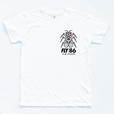 FLY 86 TEE Japanese Hipster Top Skater Youth Occult Swag Wasted Team T shirt