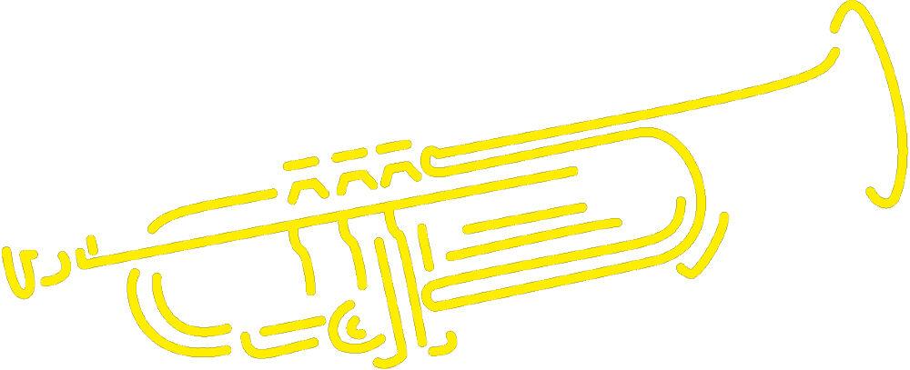 Ap0667 Applique Decor Trumpet Versch Sizes Yellow Pnfswv9053 Party