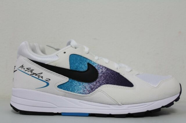 aa604252d9eb Frequently bought together. Nike Mens Air Skylon II White Black Blue Lagoon  AO1551-100 ...