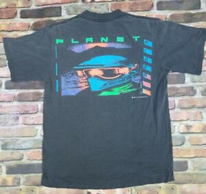 Vintage-1990-Levis-Street-T-Shirt-90s-Vtg-Made-In-Usa-Faded-Size-M-Planet-Rider
