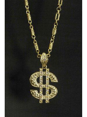 $- Simbolo Grave Catena Collana Simbolo Del Dollaro Pimp-mostra Il Titolo Originale In Viaggio